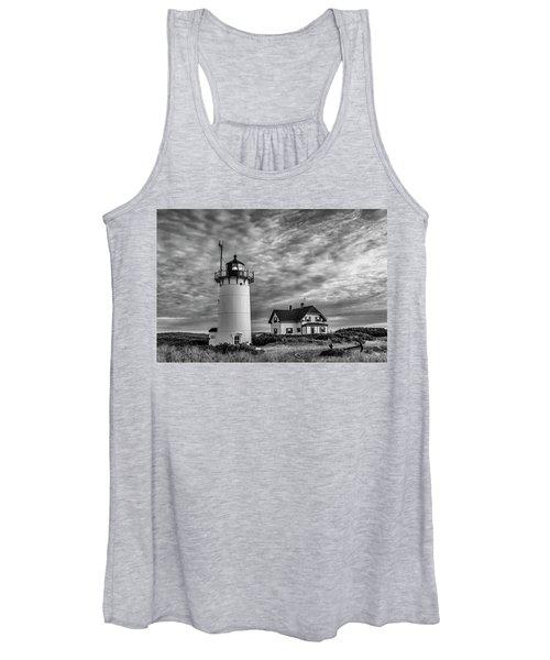 Race Point Lighthouse Sunset Bw Women's Tank Top
