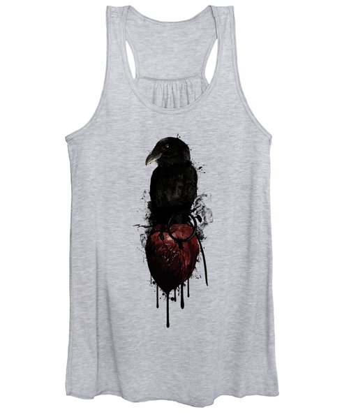 Raven And Heart Grenade Women's Tank Top
