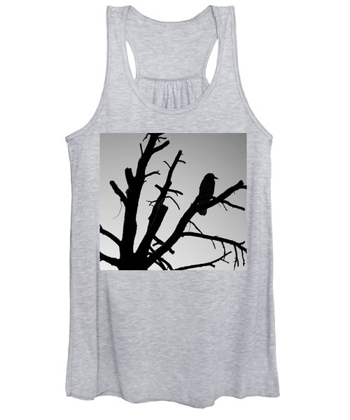 Raven Tree II Bw Women's Tank Top