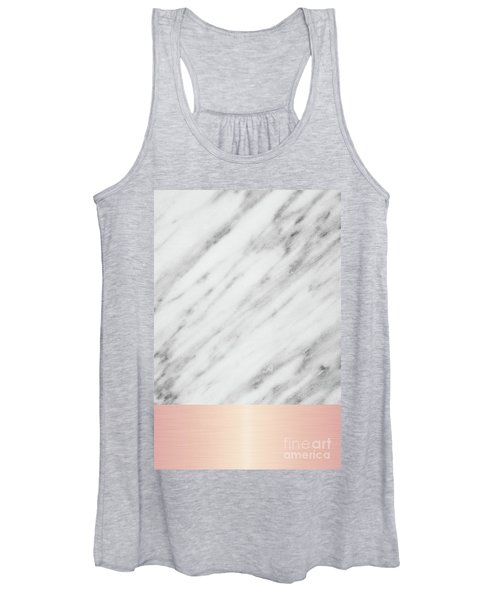 Real Italian Marble And Pink Women's Tank Top
