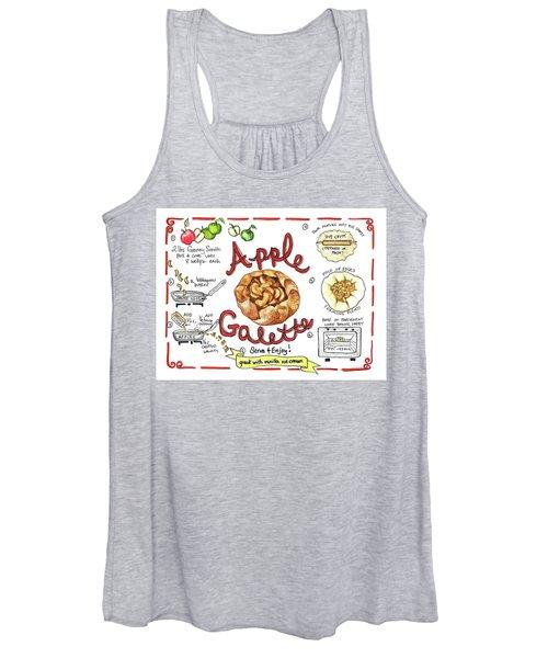 Recipe- Apple Galette Women's Tank Top