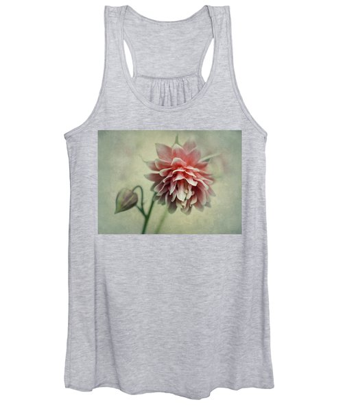 Red And Pink Columbine Women's Tank Top