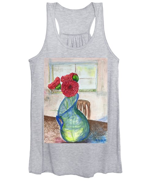 Red Carnations Women's Tank Top