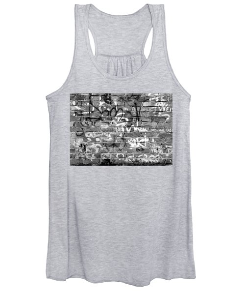 Red Construction Brick Wall And Spray Can Art Signatures Women's Tank Top