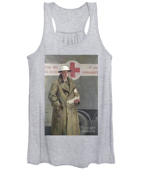 Red Cross Officer In France Women's Tank Top