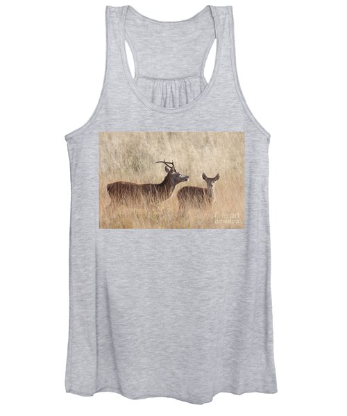 Red Deer Stag And Hind Women's Tank Top