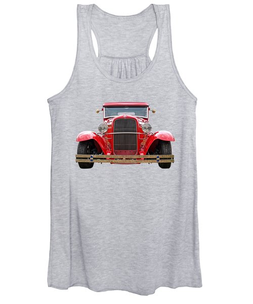 Red Ford Coupe Head On Women's Tank Top