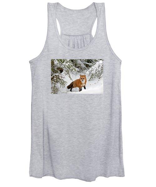 Red Fox In Winter Women's Tank Top