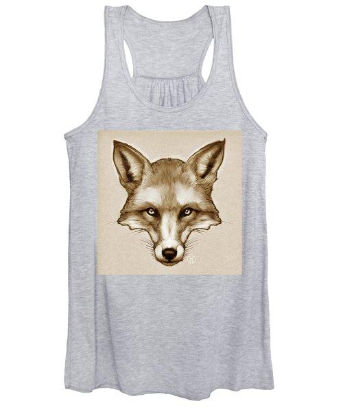 Red Fox Sketch Women's Tank Top