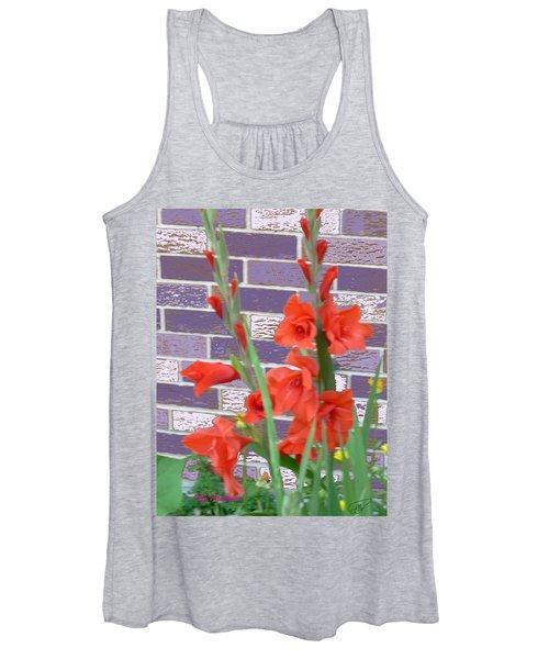 Red Gladiolas Women's Tank Top