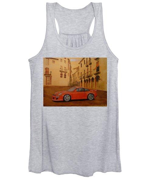 Red Gt3 Porsche Women's Tank Top