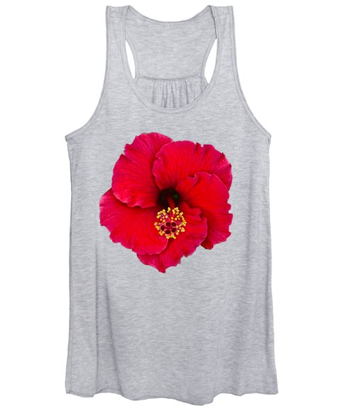 Red Hibiscus H11 Women's Tank Top