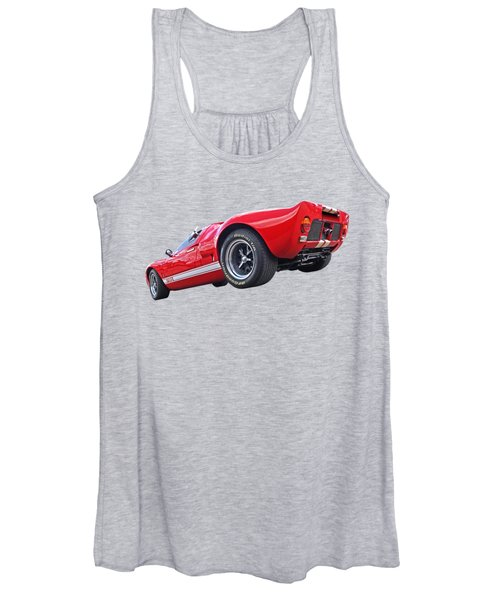 Red Hot Ford Gt 40 Women's Tank Top