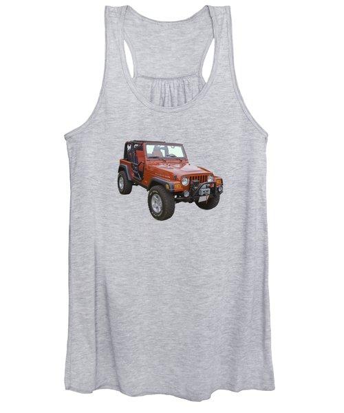 Red Jeep Wrangler Rubicon Women's Tank Top