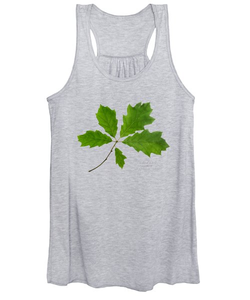 Red Oak Leaves Women's Tank Top