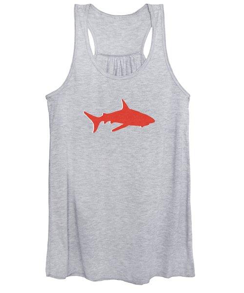 Red Shark Women's Tank Top