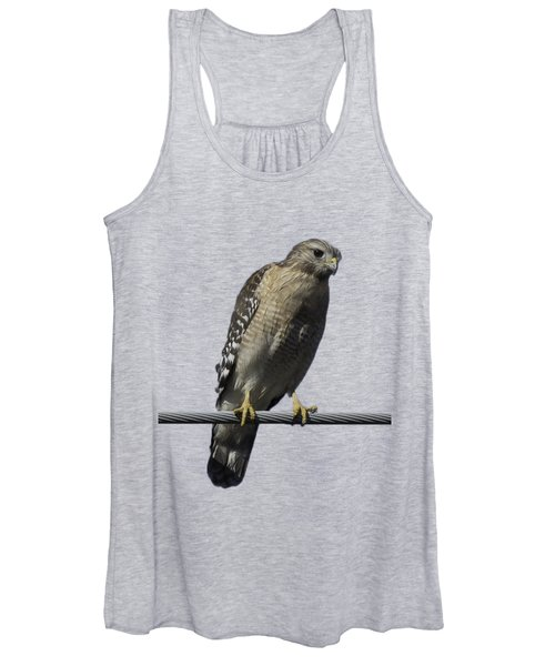 Red-shouldered Hawk Transparency Women's Tank Top