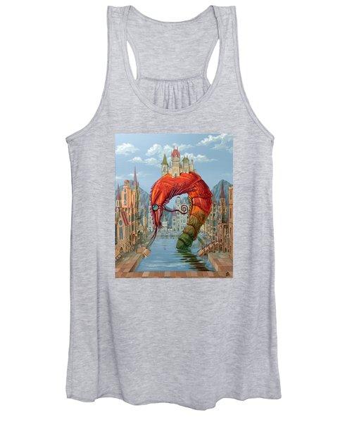 Red Shrimp Women's Tank Top