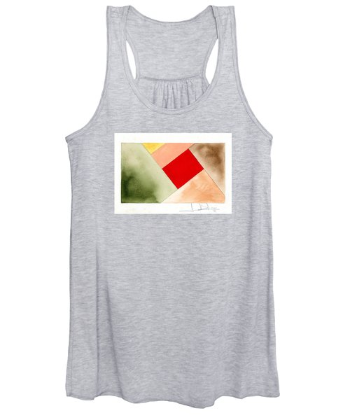 Red Square Tanned Women's Tank Top