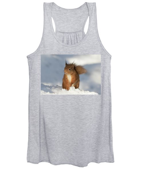 Red Squirrel In The Snow Women's Tank Top