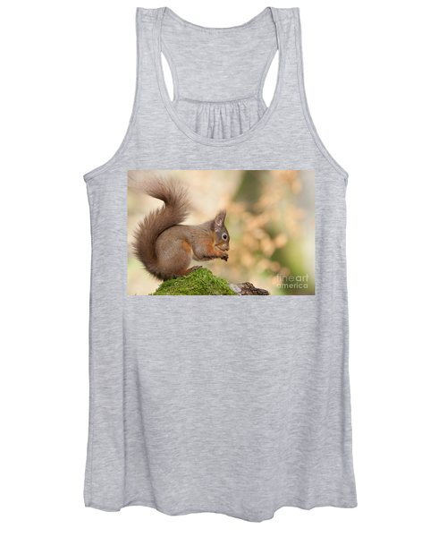 A Moment Of Meditation - Red Squirrel #27 Women's Tank Top