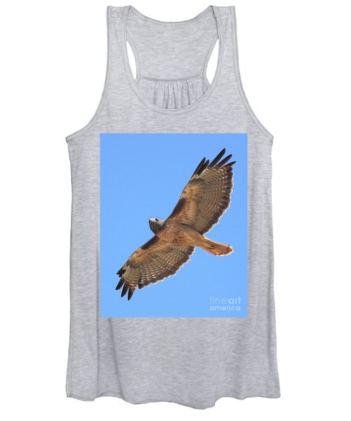 Red Tailed Hawk In Flight Women's Tank Top