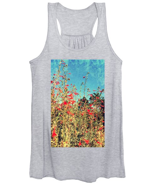 Red Trumpets Playing Women's Tank Top