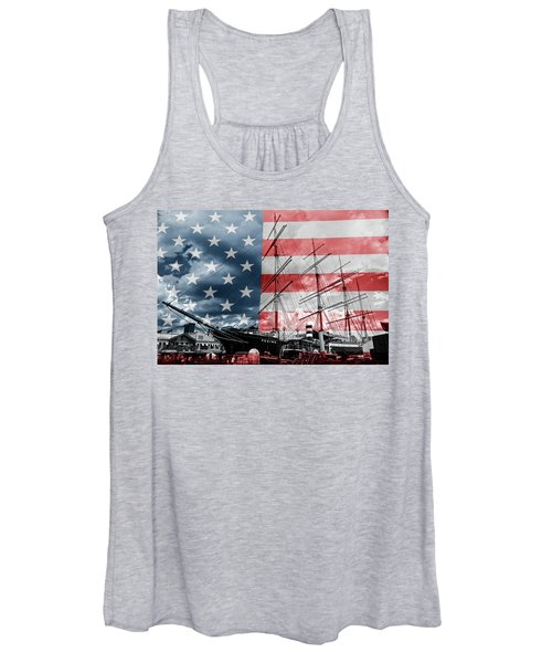 Red White And Blue Women's Tank Top