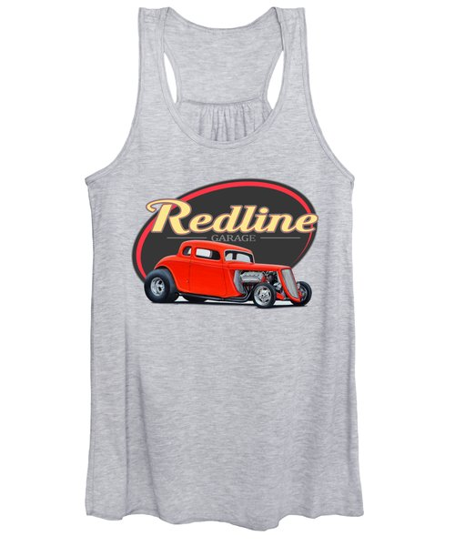 Redline Hot Rod Garage Women's Tank Top