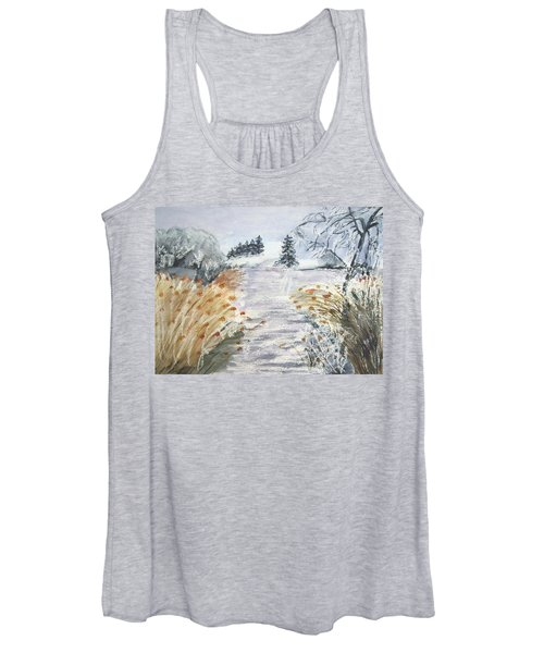 Reeds On The Riverbank No.2 Women's Tank Top