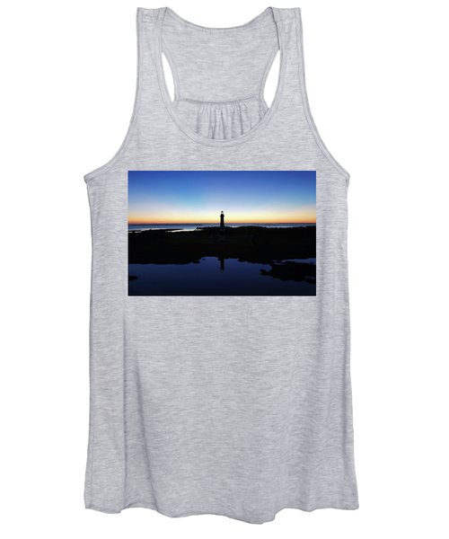 Reflection Of Bodie Light At Sunset Women's Tank Top
