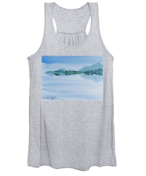 Reflection Of Mt Rugby In Bathurst Harbour Women's Tank Top