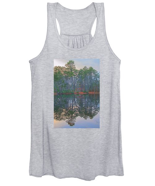 Reflections In The Pines Women's Tank Top