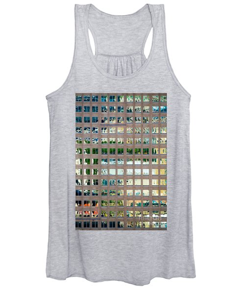 Reflections In Windows Of Office Building Women's Tank Top