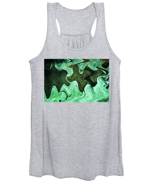 Relaxing Abstract Of Rays And Sharks Women's Tank Top