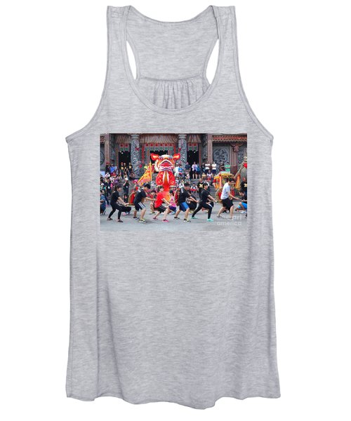 Religious Martial Arts Performance In Taiwan Women's Tank Top