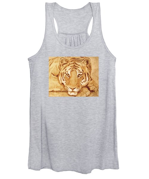 Resting Tiger Women's Tank Top