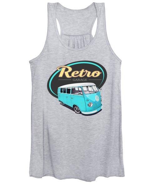 Retro Garage Bus Women's Tank Top