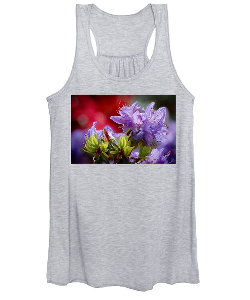 Rhododendron Bluebird Women's Tank Top