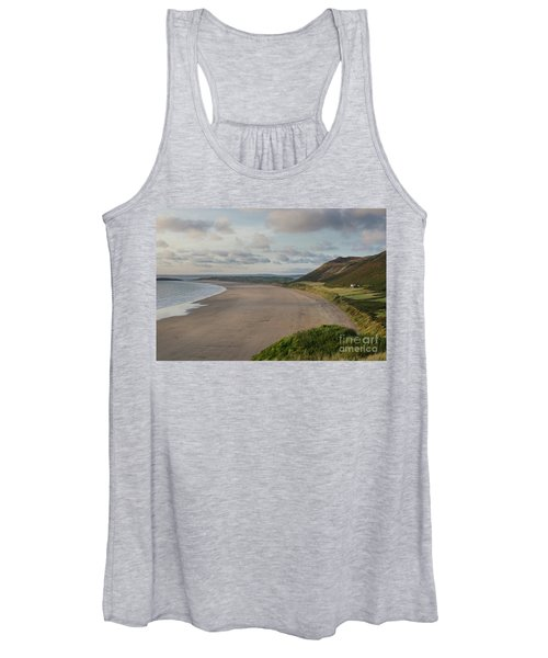 Women's Tank Top featuring the photograph Rhossili Bay, South Wales by Perry Rodriguez