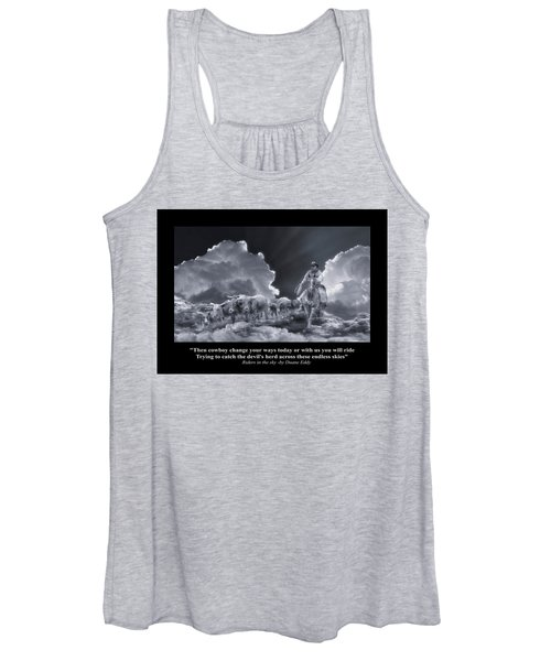 Riders In The Sky Bw Women's Tank Top