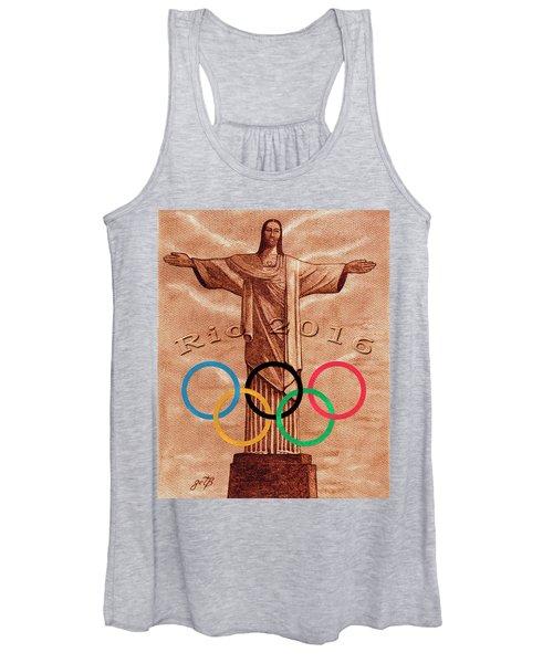 Rio 2016 Christ The Redeemer Statue Artwork Women's Tank Top
