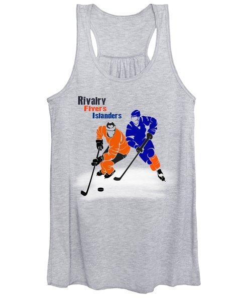 Rivalry Flyers Islanders Shirt Women's Tank Top