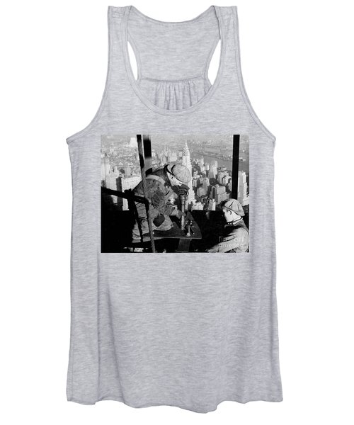 Riveters On The Empire State Building Women's Tank Top