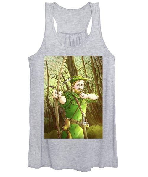 Robin  Hood In Sherwood Forest Women's Tank Top