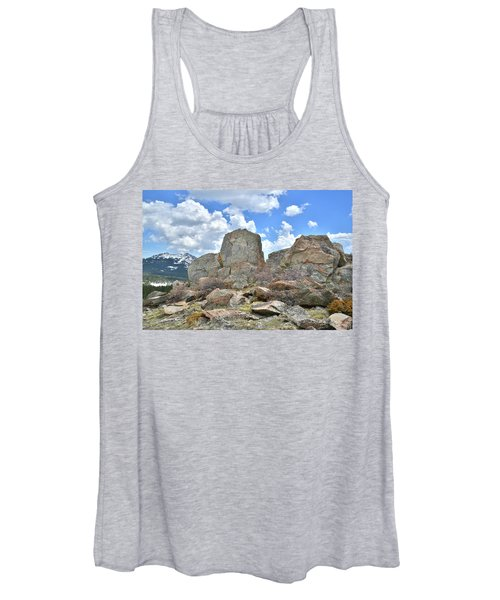 Rock Cropping At Big Horn Pass Women's Tank Top