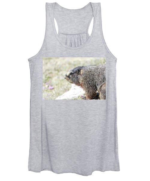 Rocky Mountain Marmot In Spring Women's Tank Top