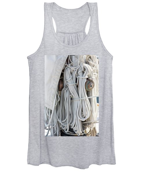 Ropes Of A Sailboat Women's Tank Top