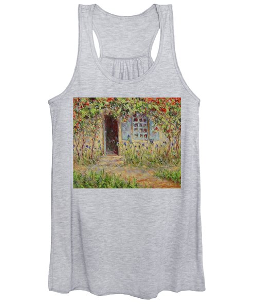 Rose Trees At The Front Of The House Women's Tank Top