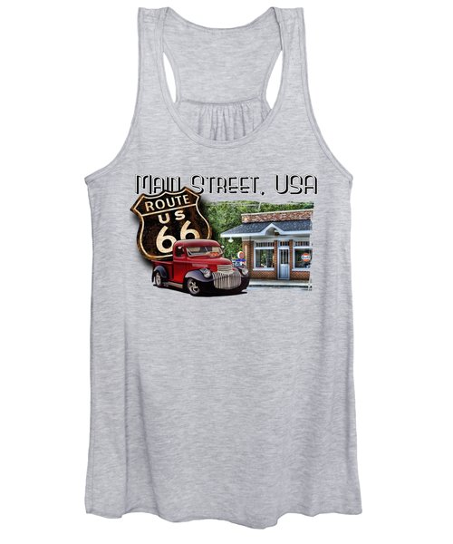 Route 66 Chevy At The Station Women's Tank Top